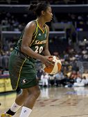 LOS ANGELES, CA. - SEPTEMBER 16: Camille Little in action during the WNBA playoff game of the Sparks