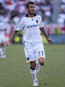 CARSON, CA. - NOVEMBER 1: David Beckham in action during the MLS conference semifinal match of Chivas USA vs. Los Angeles Galaxy at the Home Depot Center on November 1, 2009 in Carson.