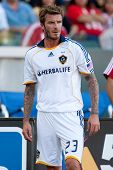 CARSON, CA. - NOVEMBER 1: L.A. Galaxy midfielder David Beckham #23 during the MLS conference semifinal match of Chivas USA vs Los Angeles Galaxy at the Home Depot Center on November 1, 2009 in Carson.