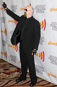 LOS ANGELES, CA. - APR 17: Lead vocalist of Judas Priest Rob Halford arrives at the 21st Annual GLAAD Media Awards at Hyatt Regency Century Plaza Hotel on April 17, 2010 in Los Angeles, CA.