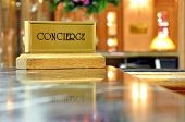 stock photo of clientele  - Concierge desk - JPG