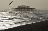 The West Pier in Brighton
