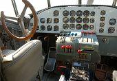Vintage Airplane Cockpit