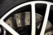Disc brake of a sports car