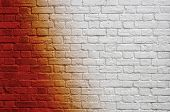 Gradient brick wall