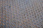 Em forma de diamante de aço, textura, profundidade de campo