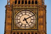 Detail of the clock Tower in London, also called Big Ben, London, UK