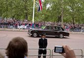 LONDON, UK - APRIL 29: A Rolls-Royce at Prince William and Kate Middleton wedding, April 29, 2011 in London, United Kingdom