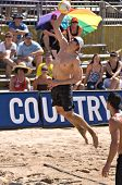 GLENDALE, AZ - SEPTEMBER 27: 2006 AVP Rookie of the Year Brad Keenan competes at the AVP Best of the