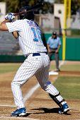 MESA, AZ - NOV 20: Nate Spears of the Mesa Solar Sox at bat in the Arizona Fall League baseball game with the Scottsdale Scorpions on November 20, 2008 in Mesa, Arizona.