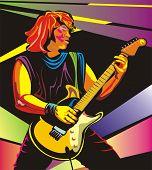 guitarist in color
