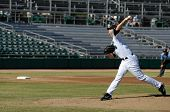MESA, AZ - NOV 20: Sean West of the Mesa Solar Sox pitches in the Arizona Fall League baseball game