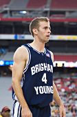 GLENDALE, AZ - DECEMBER 20: Brigham Young University guard Emery Jackson #4 on the court during the