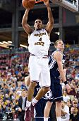 GLENDALE, AZ - DECEMBER 20: Arizona State University forward Jeff Pendergraph #4 dunks the ball duri