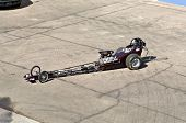 CHANDLER, AZ - OCTOBER 2: A dragster competes in the NHRA Pacific Division drag racing championship on October 2, 2009 in Chandler, Arizona.