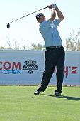 SCOTTSDALE, AZ - OCTOBER 21: Tom Lehman hits a drive in the Frys.com Open PGA golf tournament on Oct