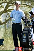 SCOTTSDALE, AZ - OCTOBER 22: Mike Weir prepares to tee off in the Frys.com Open PGA golf tournament