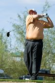 SCOTTSDALE, AZ - OCTOBER 22: Mark Calcavecchia hits a drive in the Frys.com Open PGA golf tournament