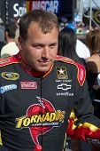 AVONDALE, AZ - APRIL 10: NASCAR driver Ryan Newman makes an appearance before the start of the Subwa