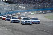 AVONDALE, AZ - APRIL 10: The pace car leads a group of cars out of turn two at the Subway Fresh Fit