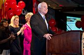 PHOENIX, AZ - NOVEMBER 2: Senator John McCain celebrates victory in his 2010 Senate campaign on Nove