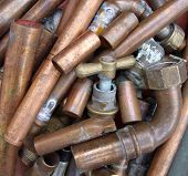 Scrap copper metal.