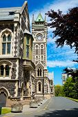 University of Otago Registry Building with clocktower, Dunedin, New Zealand