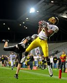 INNSBRUCK,  AUSTRIA - JULY 11 European Football League - Euro Bowl XXIII:  WR Artchill Monney (#19,