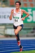 LINZ, AUSTRIA - AUGUST 1 Austrian track and field championship: Martin Steinbauer (#84) wins the men