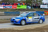HORN, AUSTRIA - OCTOBER 31: Austrian driver Joerg Rigger takes part in the 28th Waldviertel Rallye o