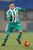 VIENNA,  AUSTRIA - DECEMBER 17: SK Rapid plays 3:3 to Celtic Glasgow on December 17, 2009 in Vienna,