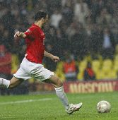 Ryan Giggs at the Champions League Final held at Luzhniki Stadium Moscow 21 May 2008 and contested b