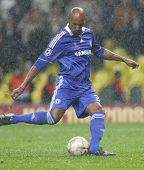Nicolas Anelka at the Champions League Final held at Luzhniki Stadium Moscow 21 May 2008 and contest