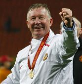Sir Alex ferguson at the Champions League Final held at Luzhniki Stadium Moscow 21 May 2008 and cont