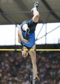 Maksym Marzuryk Ukraine competing in the pole vault at the Istaf Berlin International Golden League