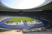 Berlins Olympia Stadion. Istaf Berlin International Golden League Athletics held at Berlin's Olympia