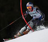 Bormio Italy March Lindsey Vonn from The USA skiing at the Audi FIS World cup event held in Crans Mo