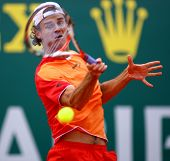 MONTE CARLO MONACO APRIL 21 Gustavo Kuerten Brazil competing at the ATP Masters tournament in Monte