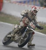 MILAN ITALY JUNE 24 Chris Hodgson GB competing in the FIM Supermoto World Championship CASTELLETTO D