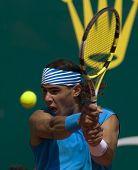 MONTE CARLO MONACO APRIL 24 Raphael Nadal Spain, competing at the ATP Masters tournament in Monte Carlo, Monaco, 19-27 April 2008
