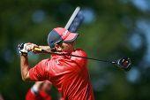 KENT ENGLAND JULY 4 Spain's Sergio Garcia competing at the PGA European Tour European Open at the Lo