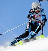 OFTERSCWANG BAVARIA,JANUARY 08 Maria Belen Simari Birkner Argentina Competing in the Audi FIS Alpine Ski World Cup Event at Ofterschwang Germany Jan 2008