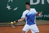 MONTE CARLO MONACO APRIL 25 , Serbian Novack Djokovic   competing in the ATP Masters tournament in M