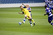 LONDON, UK AUGUST 2,Gavin Mahon tackles Michele Marcolini at the pre-season friendly football match
