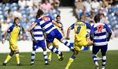 LONDON, UK AUGUST 2, Peter Ramage with a kung fu kick tackle on Gasparetto at the pre-season friendl