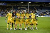 LONDON, UK AUGUST 19, Team South Africa playing in the international football friendly match between