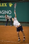 MONTE CARLO MONACO APRIL 23, Jarkko Nieminen FIN v Juan Carlos Ferrero ESP competing in the ATP Mast