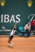 MONTE CARLO MONACO APRIL 20, Marin Cilic CRO competing in the final of the ATP Masters tournament in Monte Carlo, Monaco, 19-27 April 2008