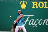 MONTE CARLO MONACO APRIL 24, Juan Carlos Ferrero (ESP) v Rafael Nadal Parera (ESP) competing in the