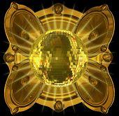 Golden Mirrorball